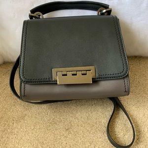 Zac Posen Gray & Black Crossbody Bag